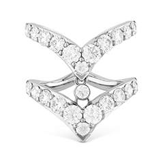 Triplicity Double Pointed Ring