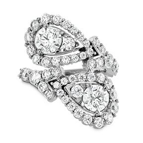 Aerial Victorian Bypass Diamond Ring