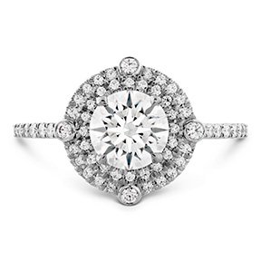 HOF Double Halo Compass Engagement Ring