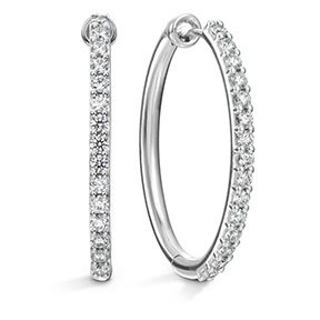 HOF Oval Classic Diamond Hoop - Large