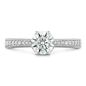 HOF Signature 6 Prong Engagement Ring - Diamond Band