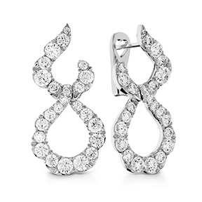 Lorelei Crescent Diamond Drop Earrings