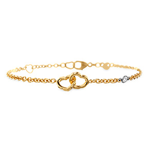 Lorelei Interlocking Heart Bracelet