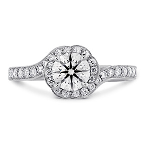 Lorelei Bloom Engagement Ring-Diamond Band