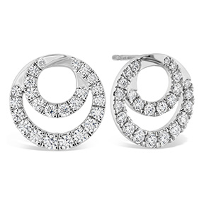 Optima Diamond Circle Earrings