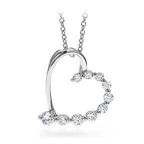 Amorous Journey Heart Pendant Necklace