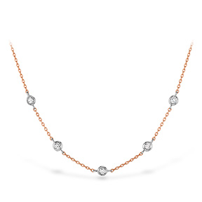 HOF Signature Off-Set Five Bezel Necklace