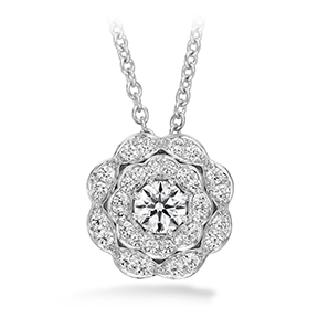 Lorelei Double Halo Diamond Pendant