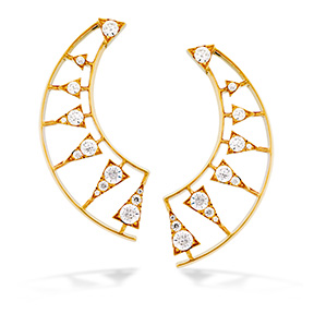 Triplicity Golden Earrings