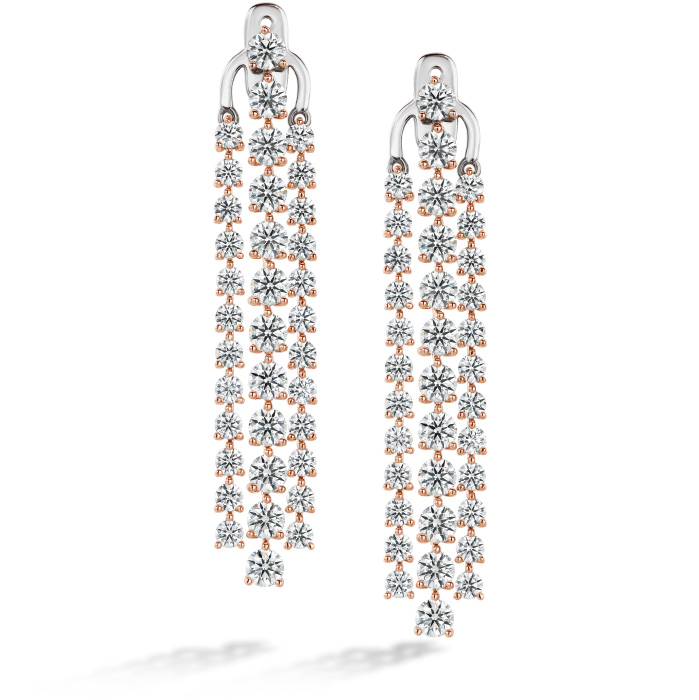 Cascade Stiletto Earring 3 Row