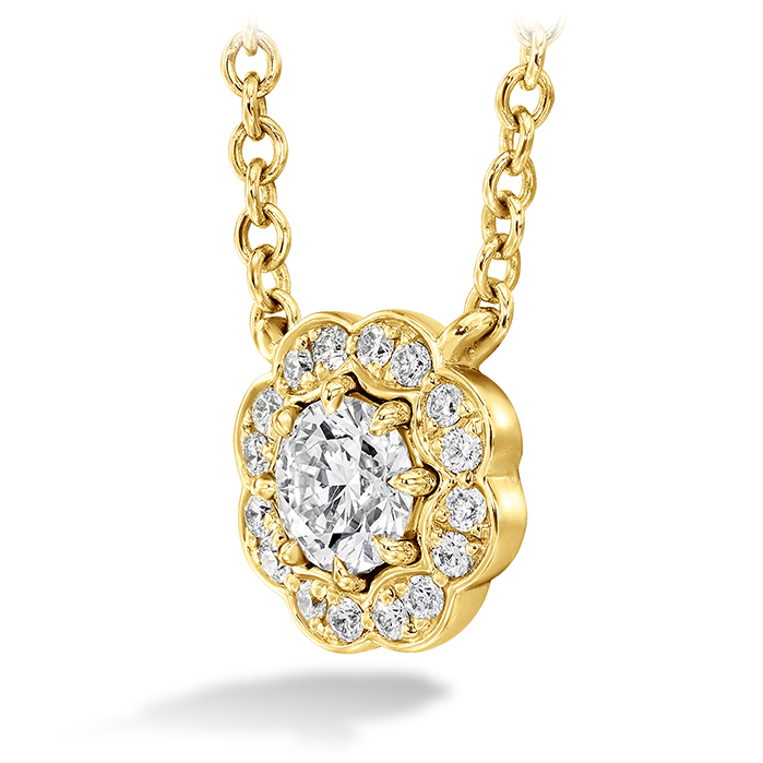 Lorelei Diamond Halo Pendant