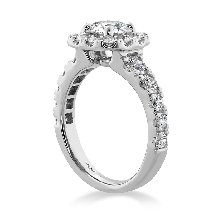Luxe Transcend Premier Custom Halo Diamond Ring